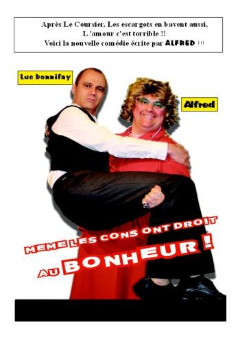 Alfred, Luc, comédie, théâtre du Cours